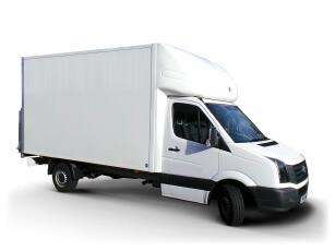 Luton van with tail lift for hire